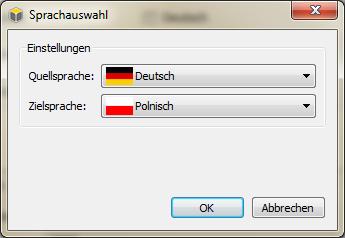 Export von Sprachdateien