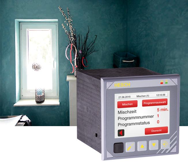 Multifunktionscontroller im Einsatz als Dosiersteuerung bei einem Putzhersteller