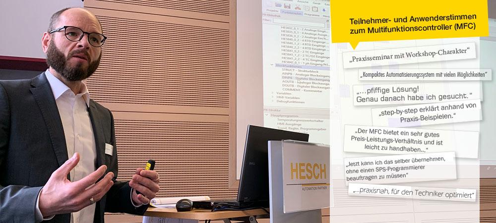 Events und Hausmessen made by HESCH – Multifunktionscontroller und Prozessregler